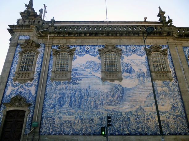 Porto, best known for it's blue tiles.