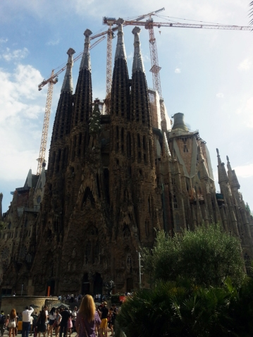 The Sagrada Família is all it's incomplete glory.